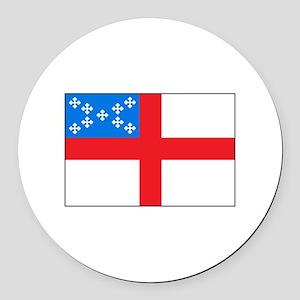 Episcopal Flag Round Car Magnet