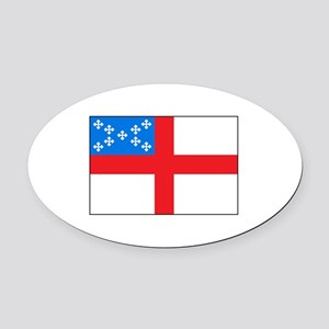 Episcopal Flag Oval Car Magnet