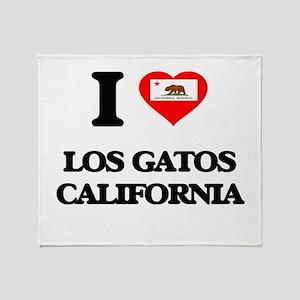 I love Los Gatos California Throw Blanket