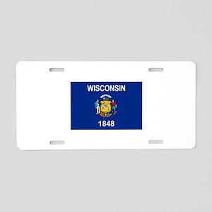 Wisconsin 1848 Aluminum License Plate