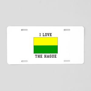 I Love The Hague Aluminum License Plate