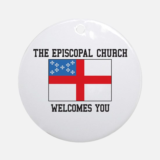 The Episcopal church welcomes you Ornament (Round)