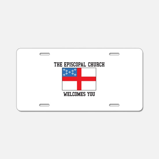 The Episcopal church welcomes you Aluminum License