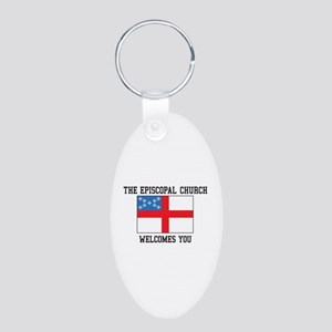 The Episcopal church welcomes you Keychains