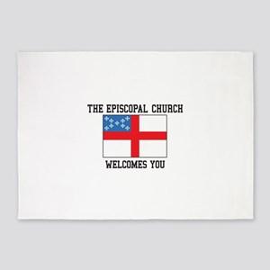 The Episcopal church welcomes you 5'x7'Area Rug