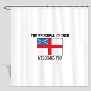 The Episcopal church welcomes you Shower Curtain