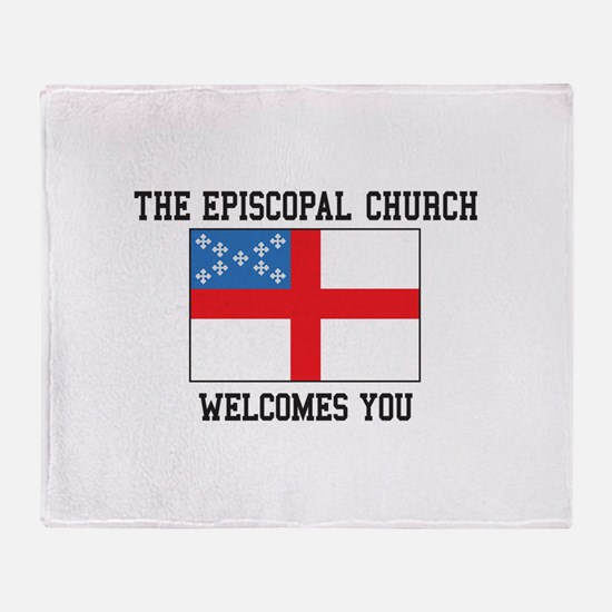 The Episcopal church welcomes you Throw Blanket