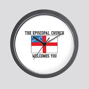 The Episcopal church welcomes you Wall Clock