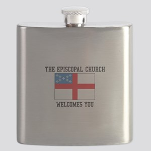 The Episcopal church welcomes you Flask