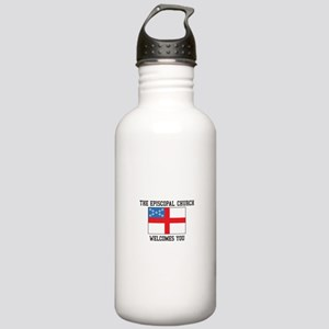The Episcopal church welcomes you Water Bottle