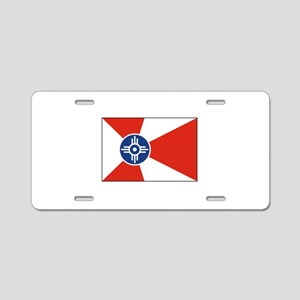 Wichita, Kansas USA Aluminum License Plate