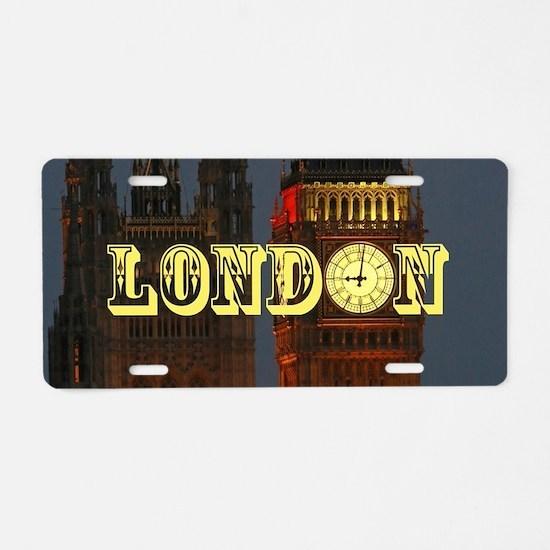 LONDON GIFT STORE Aluminum License Plate