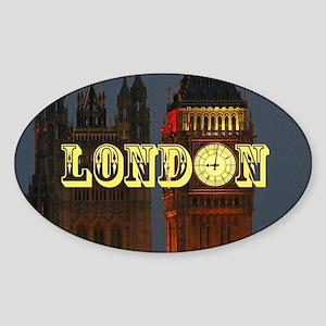 LONDON GIFT STORE Sticker (Oval)