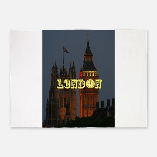 LONDON GIFT STORE 5'x7'Area Rug