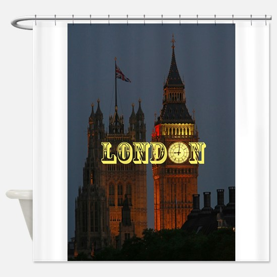LONDON GIFT STORE Shower Curtain