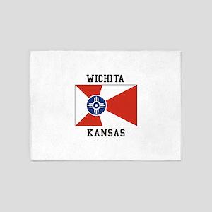 Wichita Kansas 5'x7'Area Rug