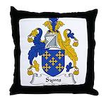 Syms Family Crest Throw Pillow