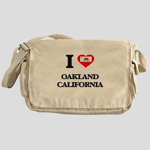 I love Oakland California Messenger Bag