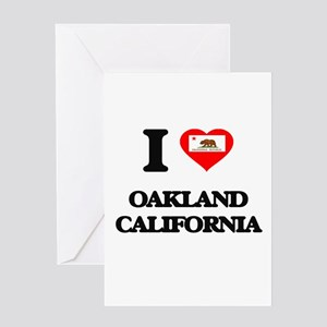 I love Oakland California Greeting Cards