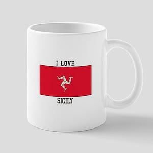 I Love Sicily Mugs