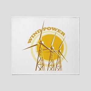 Wind Power Throw Blanket