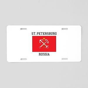 St. Petersburg Flag Aluminum License Plate