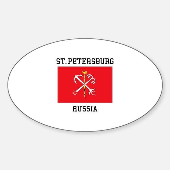 St. Petersburg Flag Decal