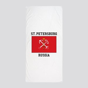 St. Petersburg Flag Beach Towel