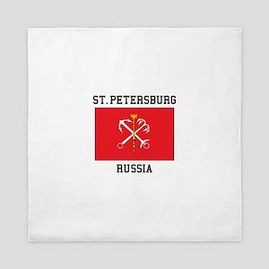 St. Petersburg Flag Queen Duvet