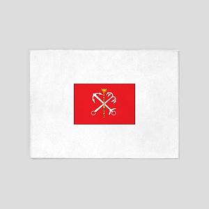 St. Petersburg Flag 5'x7'Area Rug