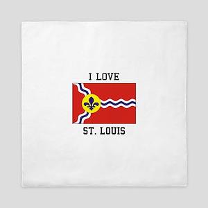 St. Louis Flag Queen Duvet