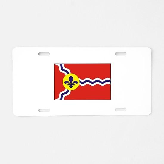 St. Louis Flag Aluminum License Plate