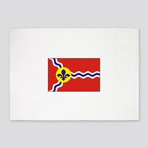 St. Louis Flag 5'x7'Area Rug