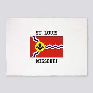 St. Louis Flag 5'x7'Area Rug