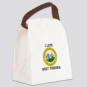 I Love West Verginia Canvas Lunch Bag