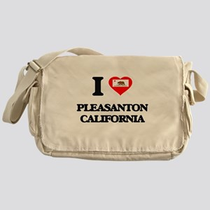 I love Pleasanton California Messenger Bag
