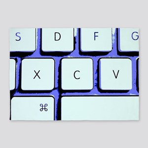 Computer Keyboard 5'x7'Area Rug