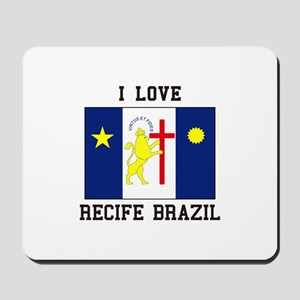 I Love Recife, Brazil Mousepad