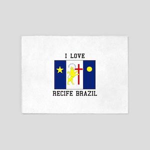 I Love Recife, Brazil 5'x7'Area Rug