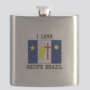 I Love Recife, Brazil Flask