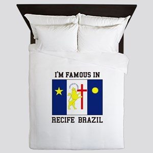 I'm Famous in Recife, Brazil Queen Duvet