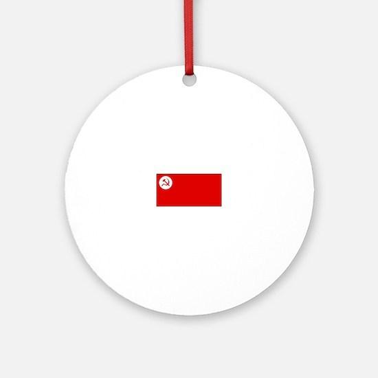 Revolutionary Socialist Party Flag Ornament (Round