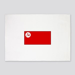 Revolutionary Socialist Party Flag 5'x7'Area Rug