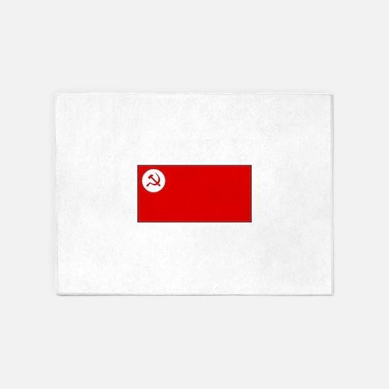Revolutionary Socialist Party Flag 5'x7'Area Rug