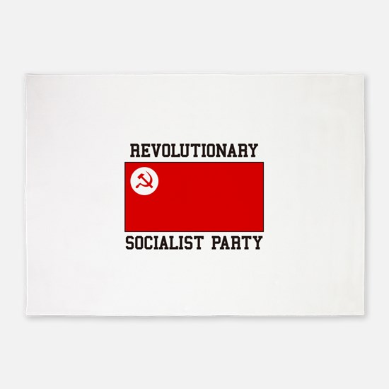 Revolutionary Socialist Party 5'x7'Area Rug