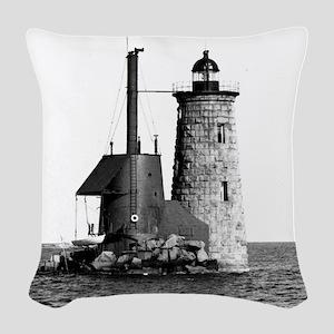 Whaleback Lighthouse Woven Throw Pillow