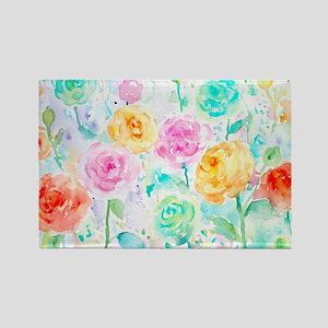 Watercolor Ranunculus Flower Pattern Magnets