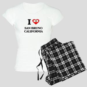 I love San Bruno California Women's Light Pajamas
