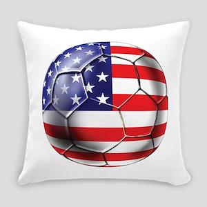 USA Soccer Ball Everyday Pillow