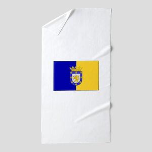 Santiago, Chile Flag Beach Towel